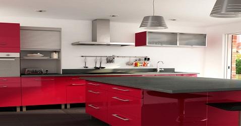 cuisine rouge deco cool