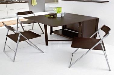 Table De Cuisine Pliante Avec Chaises Integrees