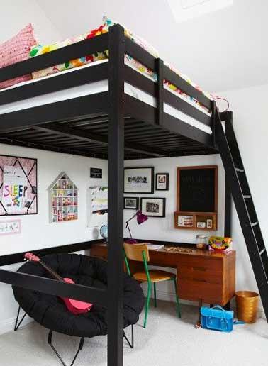 Une Chambre Ado Fille Avec Petit Salon Sous Mezzanine