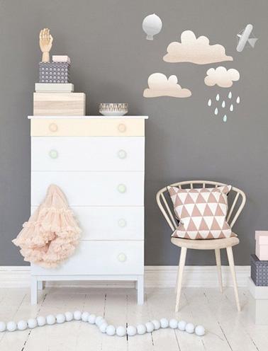 Chambre de petite fille grise  la dco pastel