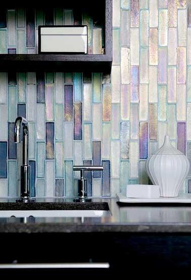 crédence cuisine en verre design