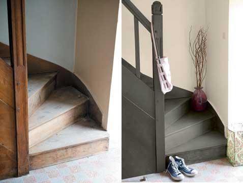 Peinture Sol Pour Repeindre Carrelage Escalier Et Parquet