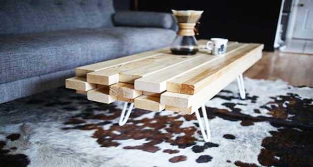 DIY Deco  fabriquer une table basse trendy pour le salon