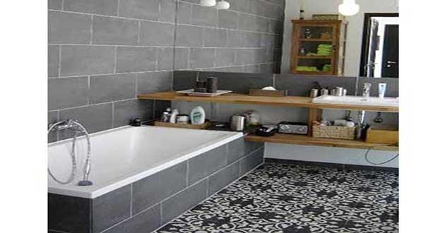 La Deco Salle De Bain En Carreaux De Ciment Cest Chouette
