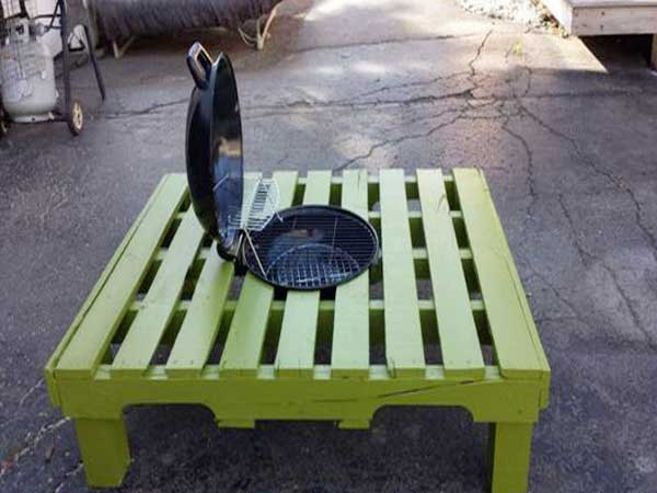 S Table Basse Palette A Transformer En Table Barbecue
