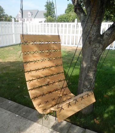 fauteuil suspendu en palette hyper deco