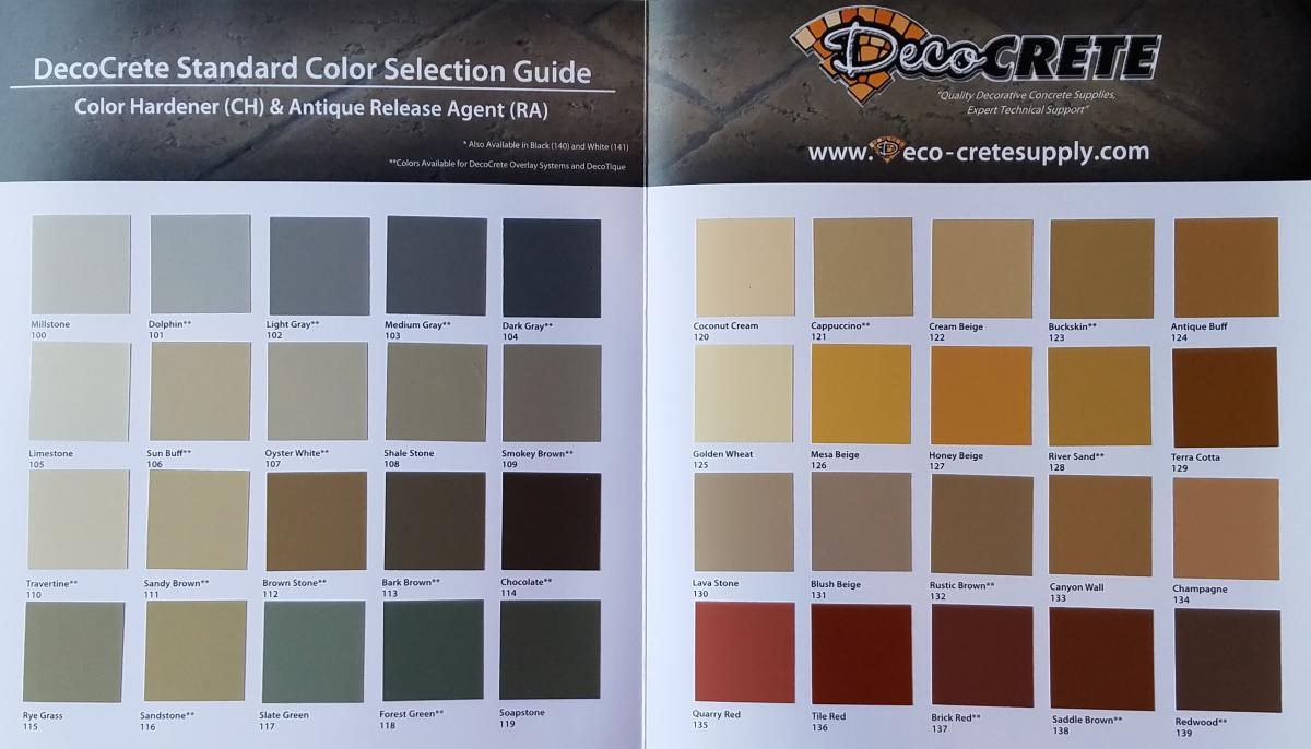 Forest Green Color Hardener  DecoCrete Supply