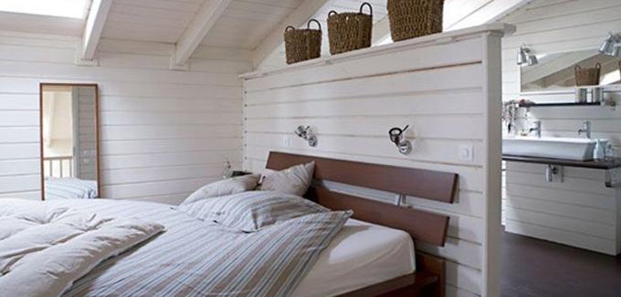 La Salle De Bains Cach E Derri Re Un Petit Pan De Mur Salle De Bain Design Ouverte Sur Chambre