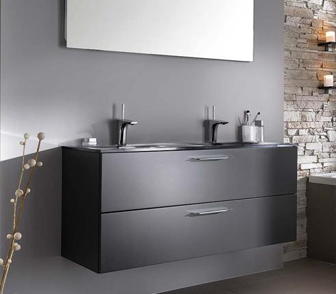 salle de bain grise inspiration deco