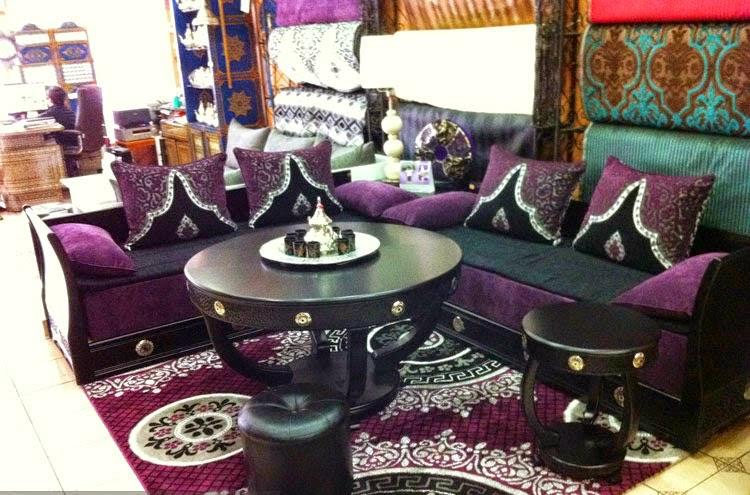 Salon Marocain Mauve Et Gris - Décoration de maison idées de design ...