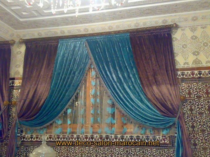 rideaux modernes  Dco salon marocain