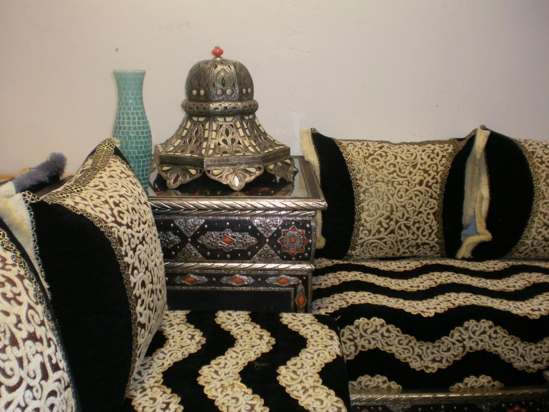 Fauteuils salon marocain traditionnel 2016  2017  Dco salon marocain