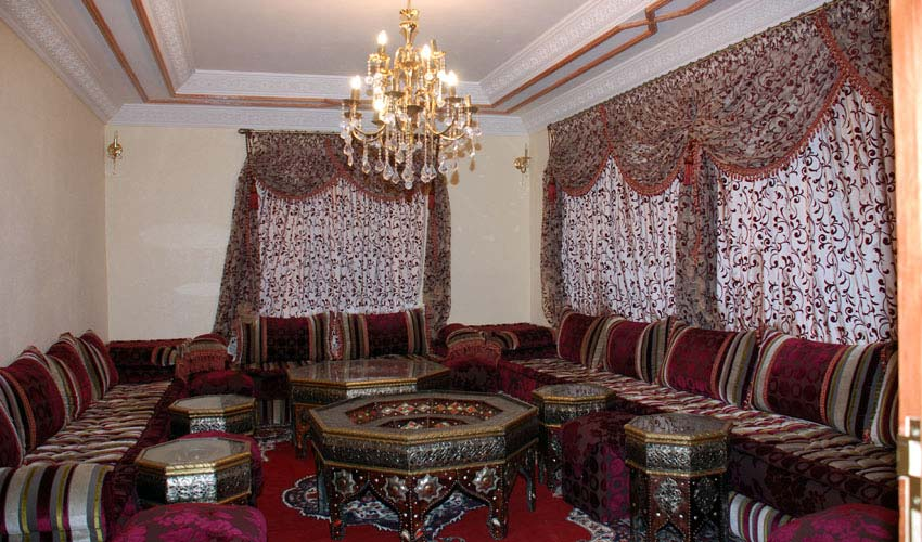La tendance de salon traditionnel marocain  Deco salon marocain