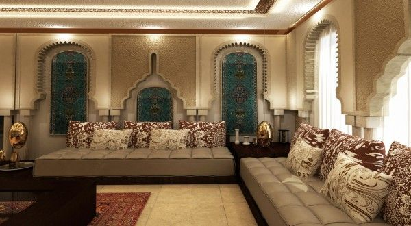 salon marocain richbond moderne  Deco salon marocain