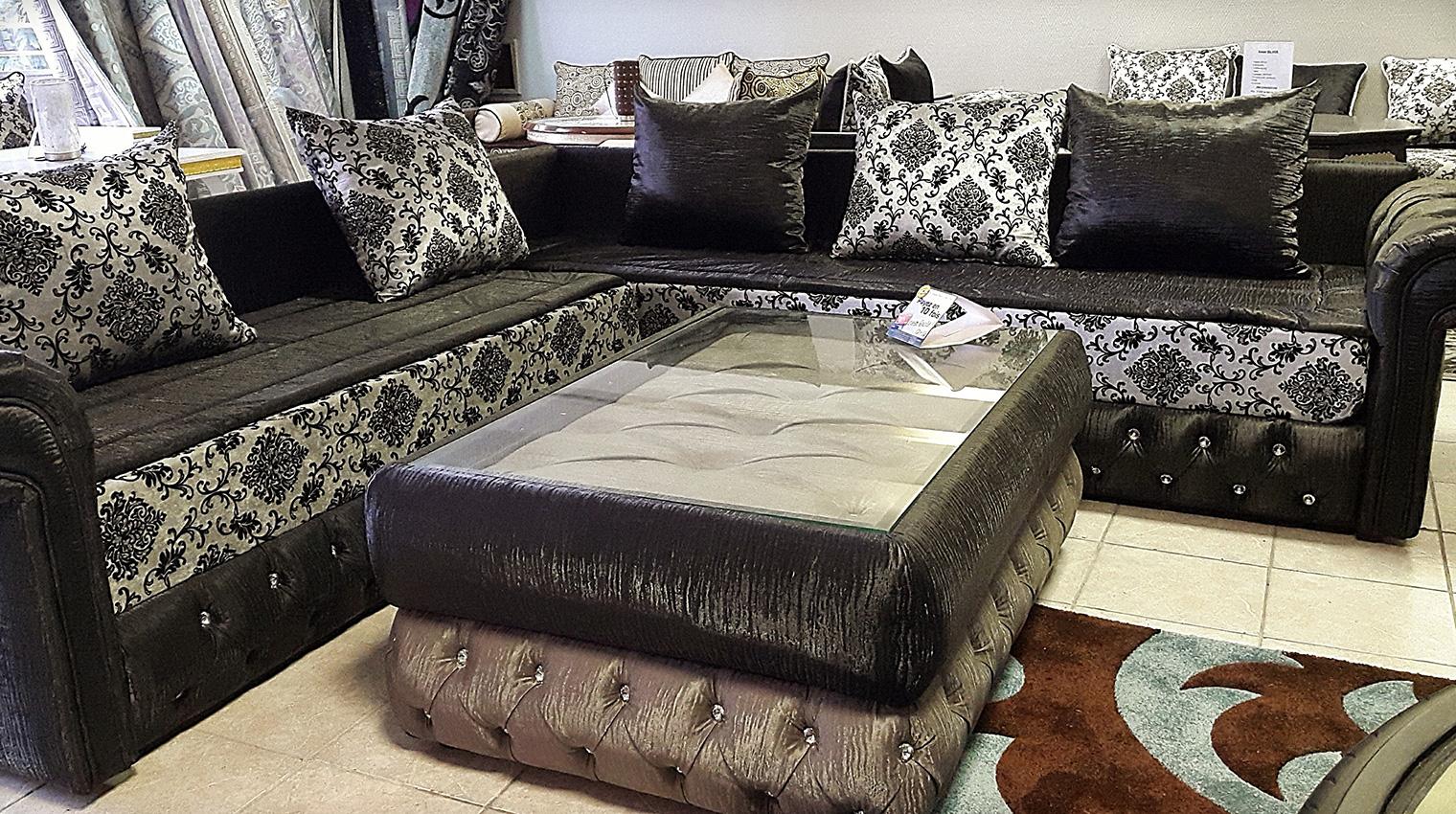 Modles de salon marocain gris design moderne  Deco salon marocain