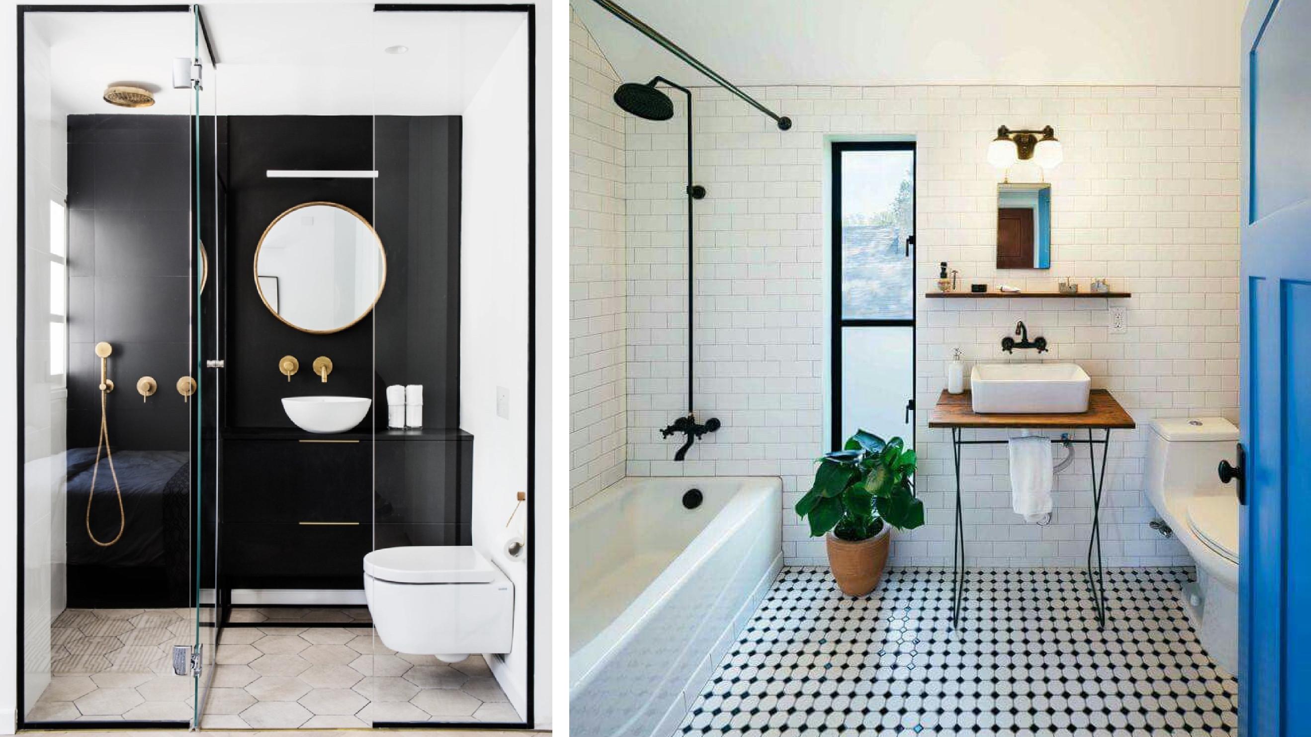 4 plans de salle de bains carree