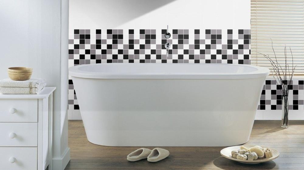 Des Idees Deco Pour Une Salle De Bains En Noir Et Blanc M6 Deco Fr