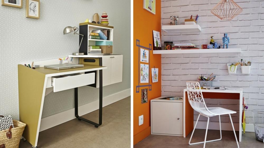 un coin bureau dans un petit espace