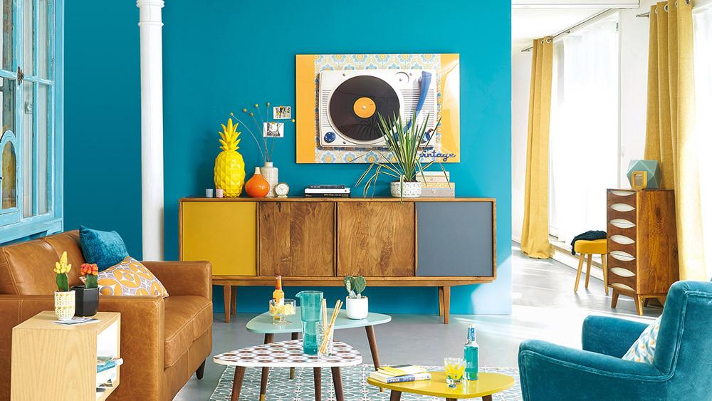 je veux un salon bleu m6 deco fr