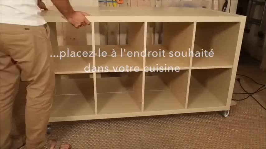 Diy Fabriquer Un îlot De Cuisine Avec Des Meubles Ikea
