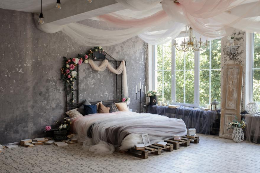 chambre parentale romantique les