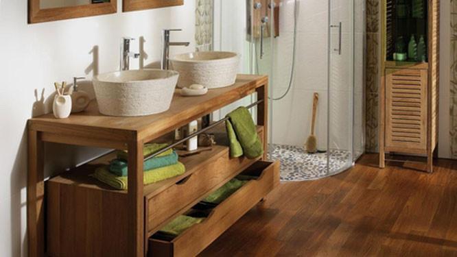 ambiance nature dans la salle de bains