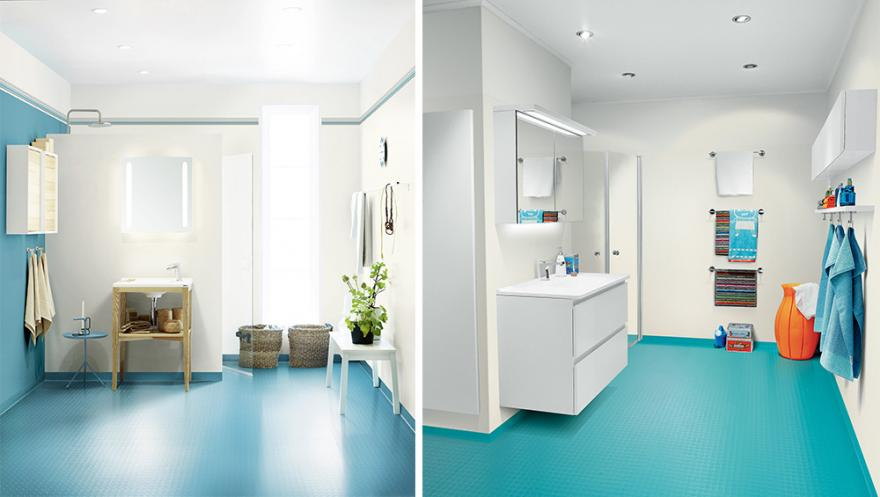 le bleu couleur ideale de la salle de