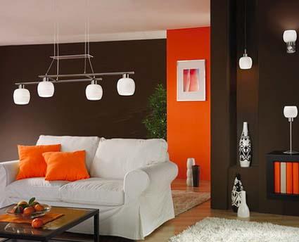 Ilumina tus espacios con el color naranja  DecoActualcom