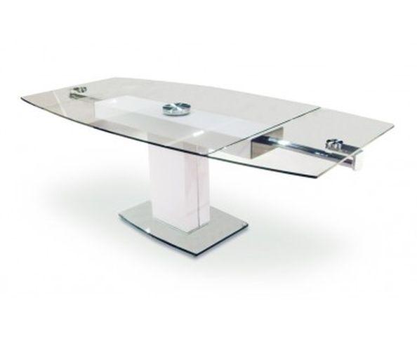 table de cuisine ovale avec pied central