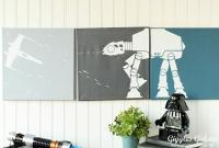 DecoArt Blog - Crafts - DIY Star Wars Canvas Wall Art