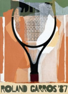 affiche Rolland Garros 1987 Gerard Titus-Carmel