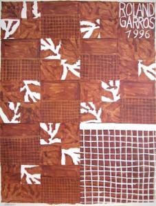 affiche Rolland Garros 1996 Jean-Michel Meurice