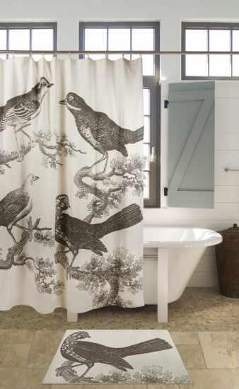 Orinthology shower curtain Thomas Paul