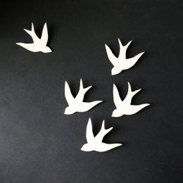 vol hirondelles porcelaine PrinceDesignUK-Etsy
