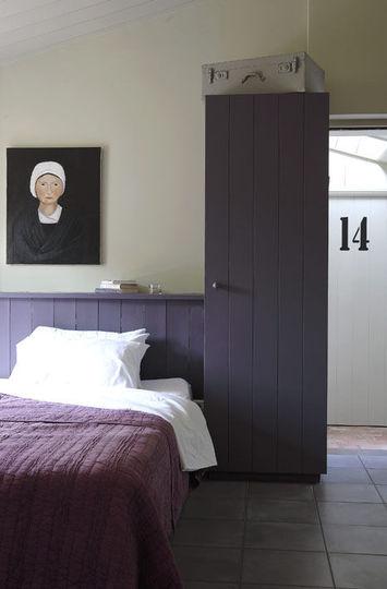 Chambre violette aux airs de vacances Cote-maison