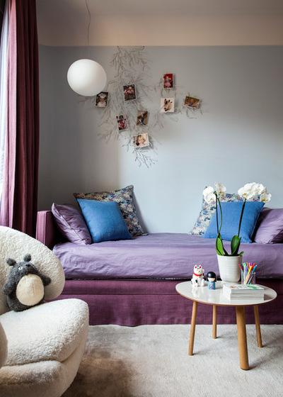 Houzz-contemporain-chambre-d-enfant-bleu-et-violet