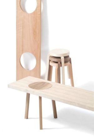 DIY fabriquer un banc avec des tabourets -Pinterest-Flemarie-fr