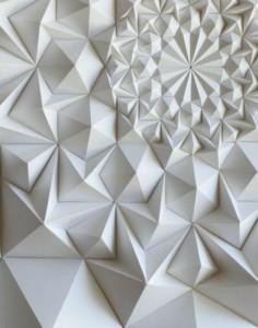 panneau mural 3d inspiré de l'art origami