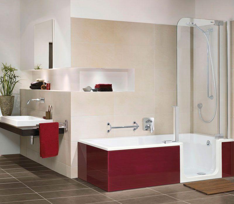Banheira moderna com duche  Fotos e imagens