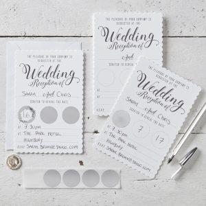 SC  Wedding Evening Invitation White scaled