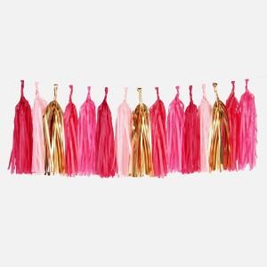 tassel garland pink scaled