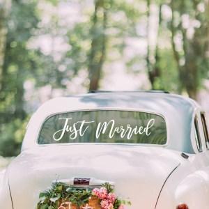 GO  Just married Car Window Sticker