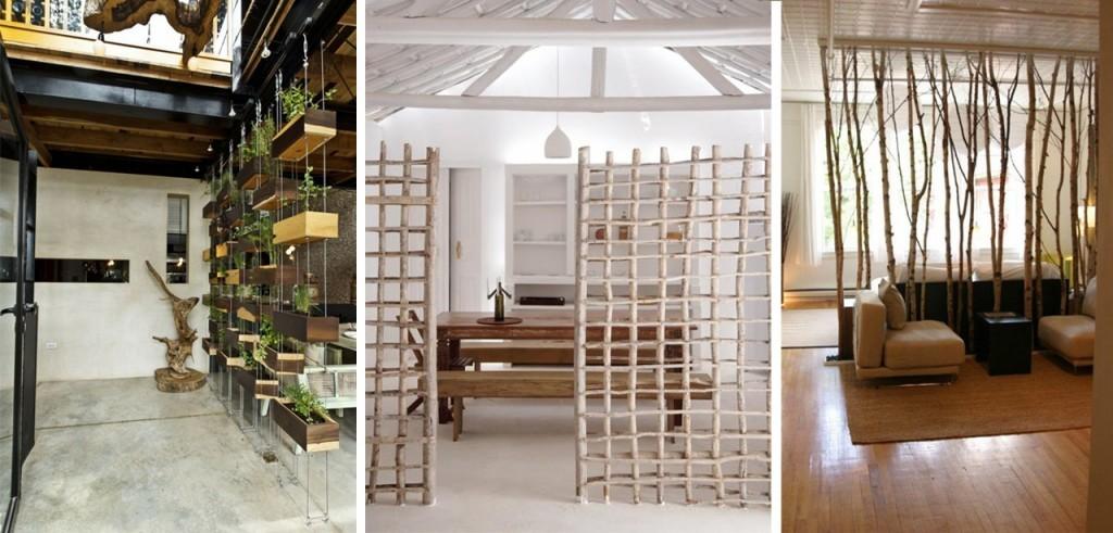 Megaambientes Ideas para separar espacios  Decocasa