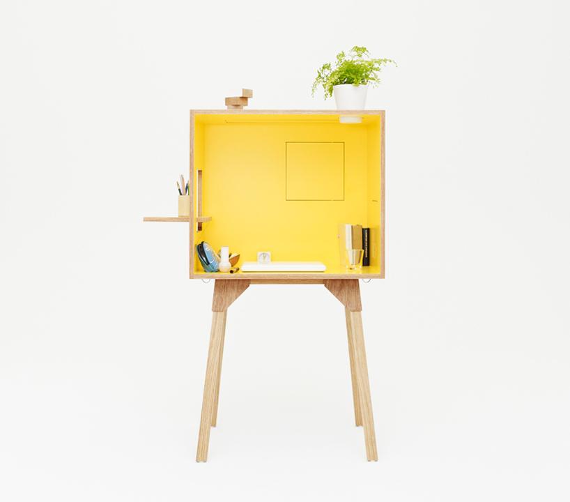 un petit bureau en bois design pratique et color decocrush. Black Bedroom Furniture Sets. Home Design Ideas