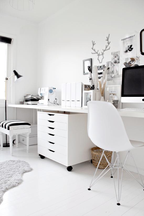 Le bureau noir et blanc de nina de stylizimo decocrush for Bureau noir et blanc