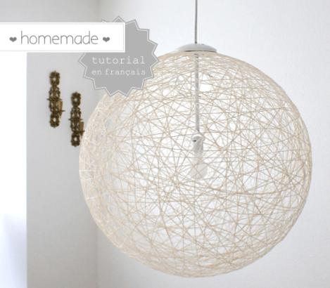 diy de la laine pour une jolie lampe homemade decocrush. Black Bedroom Furniture Sets. Home Design Ideas