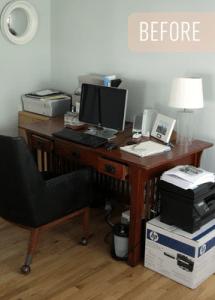 Le bureau homemade by Ikea d'Heather de The Lovely Cupboard