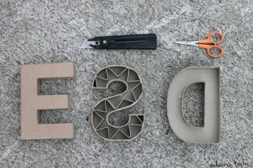 { DIY } 3 idées déco pour de jolies lettres en béton...   www.decocrush.fr