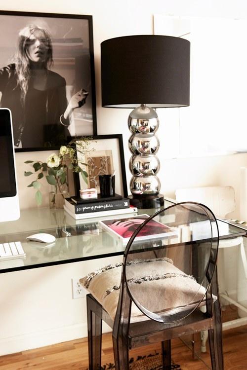 8 idées déco pour une touche glamour dans le bureau   www.decocrush.fr