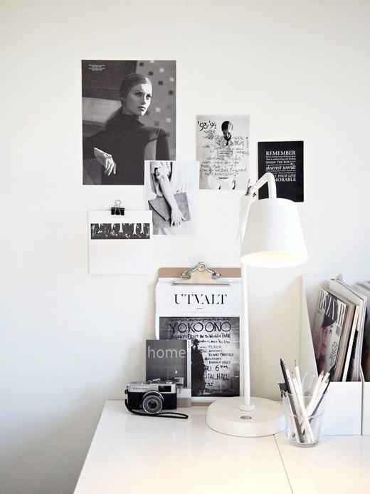 id es d co 10 bureaux minimalistes en noir et blanc. Black Bedroom Furniture Sets. Home Design Ideas